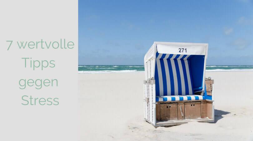 Gegen Stress, Strandkorb am Strand